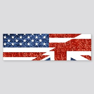 glitter usa uk Bumper Sticker