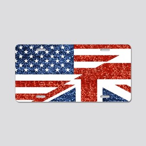 glitter usa uk Aluminum License Plate