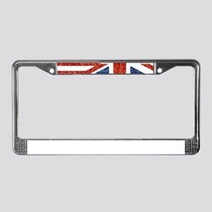 glitter usa uk License Plate Frame