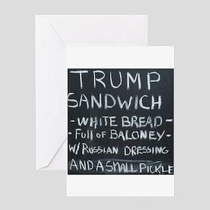 Trump Sandwich Greeting Cards