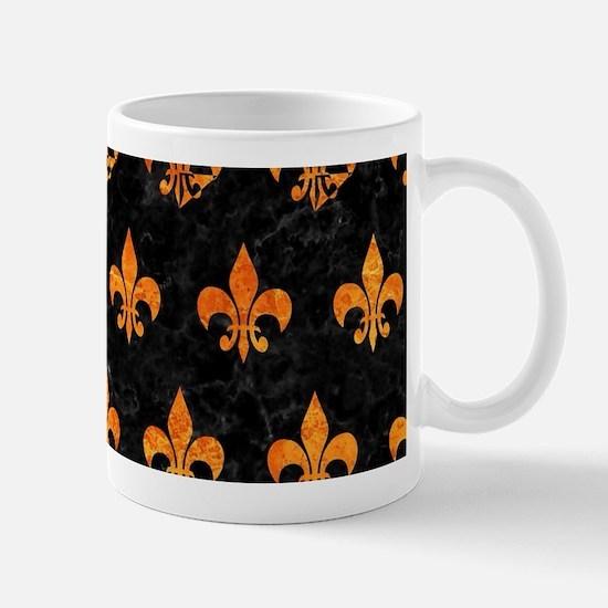 ROYAL1 BLACK MARBLE & ORANGE MAR Mug