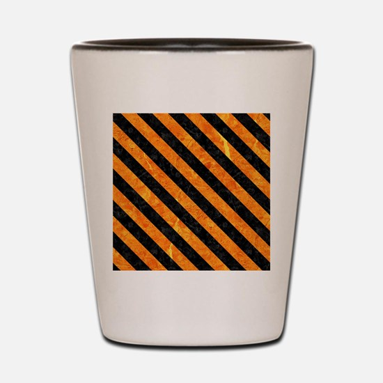 STRIPES3 BLACK MARBLE & ORANGE MARBLE ( Shot Glass