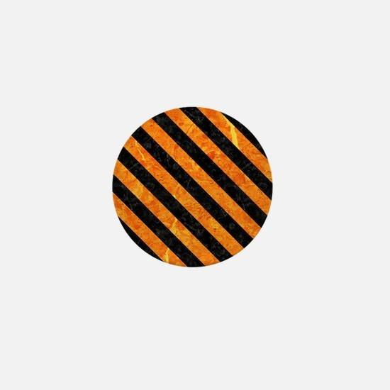 STRIPES3 BLACK MARBLE & ORANGE MARBLE Mini Button