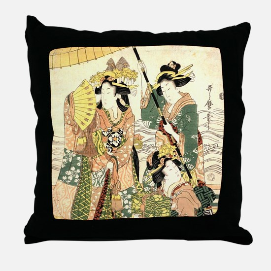 Unique Japanese Throw Pillow