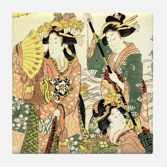 Unique Oriental Tile Coaster