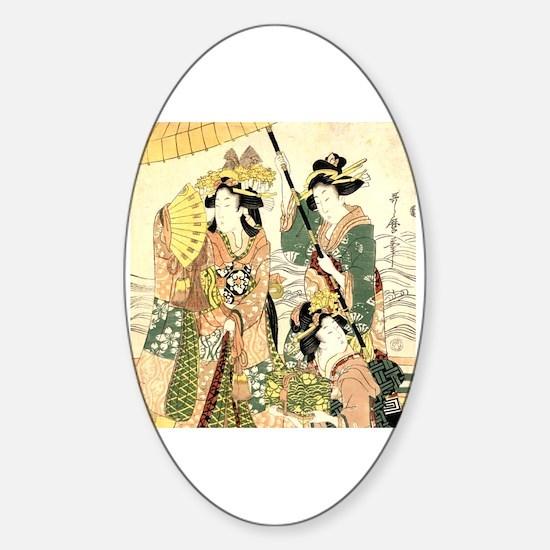 Ukiyo e Sticker (Oval)