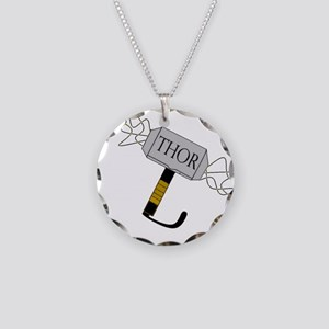THOR'S Hammer Necklace Circle Charm