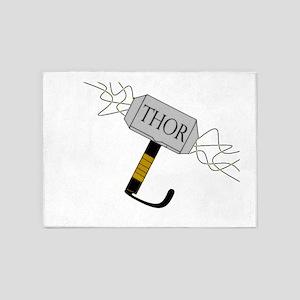 THOR'S Hammer 5'x7'Area Rug