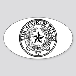 Texas State Seal Oval Sticker