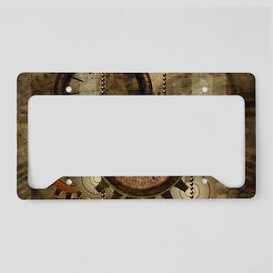 Steampunk, wonderful noble design License Plate Ho