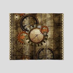 Steampunk, wonderful noble design Throw Blanket