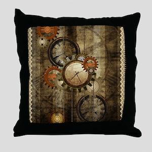 Steampunk, wonderful noble design Throw Pillow