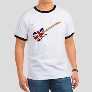 Union Jack Slab Guitar T-Shirt