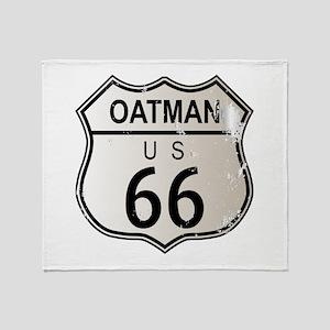 Oatman Route 66 Sign Throw Blanket