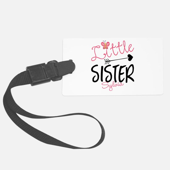 Little Sister Butterfly Personalized Luggage Tag