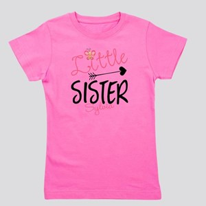 Little Sister Butterfly Personalized Girl's Tee