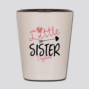 Little Sister Butterfly Personalized Shot Glass