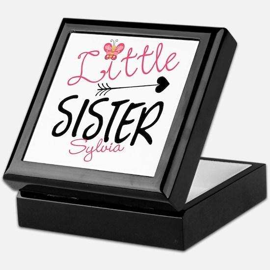 Little Sister Butterfly Personalized Keepsake Box