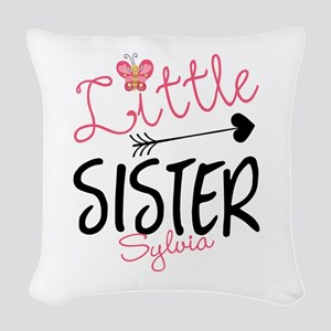 Little Sister Butterfly Personalized Woven Throw P
