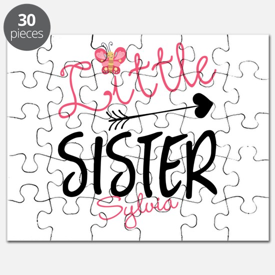 Little Sister Butterfly Personalized Puzzle