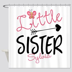 Little Sister Butterfly Personalized Shower Curtai