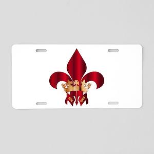 Fleur de Lis Symbol Aluminum License Plate