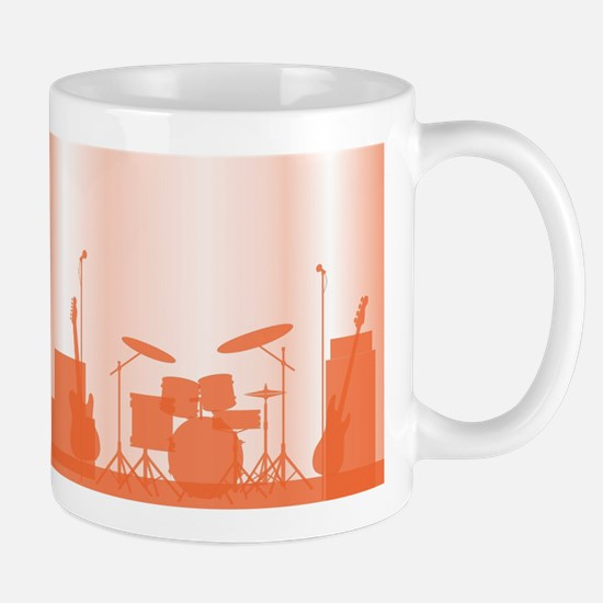 Rock Band Equipment On Stage Mugs
