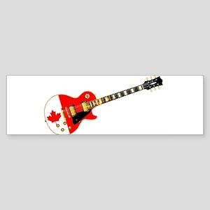 Canadian Flag Guitar Bumper Sticker