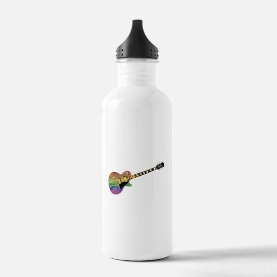 Gay Pride Guitar Water Bottle