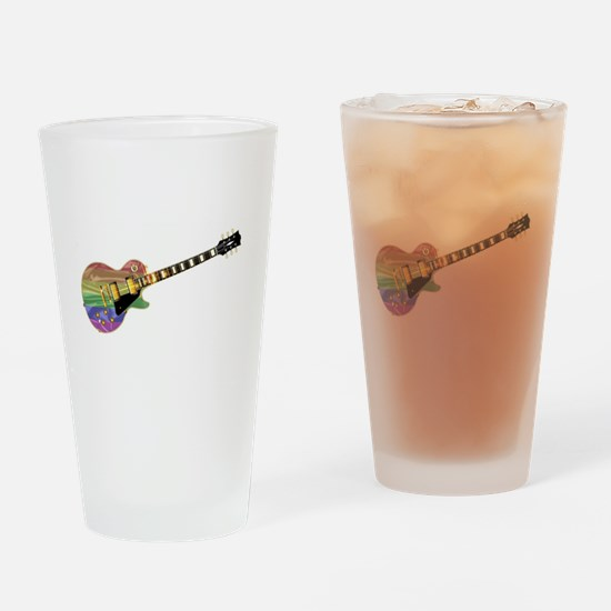 Gay Pride Guitar Drinking Glass