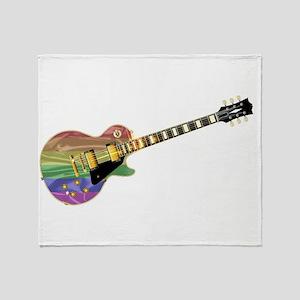 Gay Pride Guitar Throw Blanket
