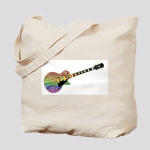 Gay Pride Guitar Tote Bag