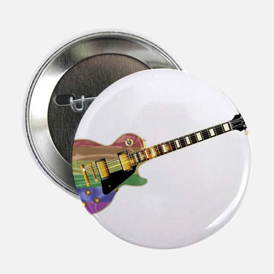 "Gay Pride Guitar 2.25"" Button"