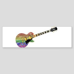Gay Pride Guitar Bumper Sticker