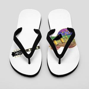 Gay Pride Guitar Flip Flops