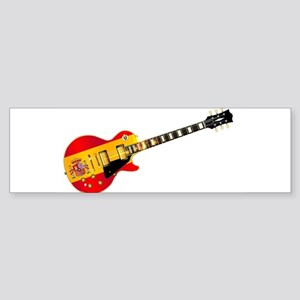 Spanish Flag Guitar Bumper Sticker