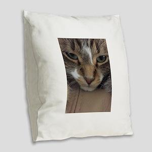 You Disturbed Me Burlap Throw Pillow