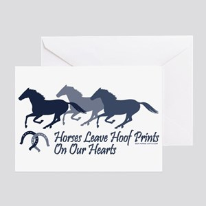 Hoof Prints On Our Hearts Greeting Card
