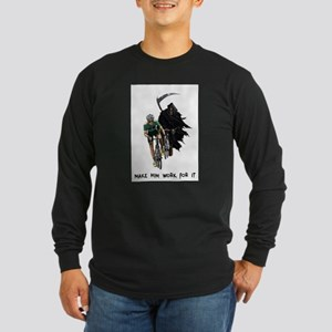 Grim Reaper Chasing Cyclist Long Sleeve T-Shirt