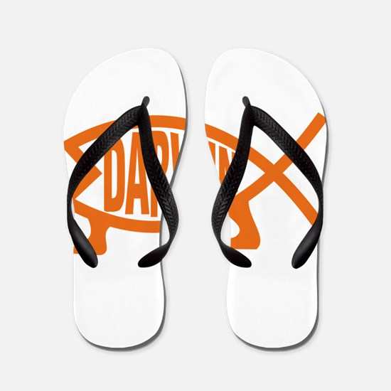 Original Darwin Fish (Orange) Flip Flops