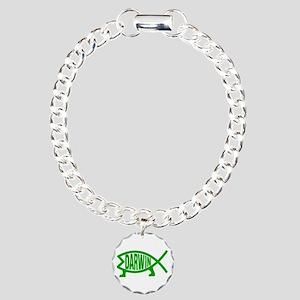 Darwin fish charms cafepress original darwin fish gr charm bracelet one charm aloadofball Image collections