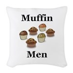 Muffin Men Woven Throw Pillow