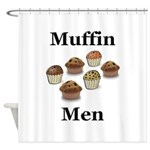 Muffin Men Shower Curtain