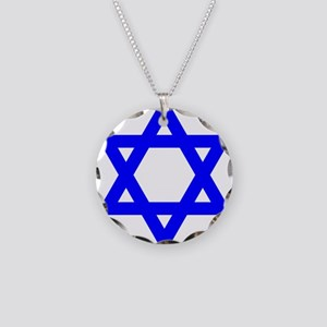 Flag of Israel Necklace Circle Charm