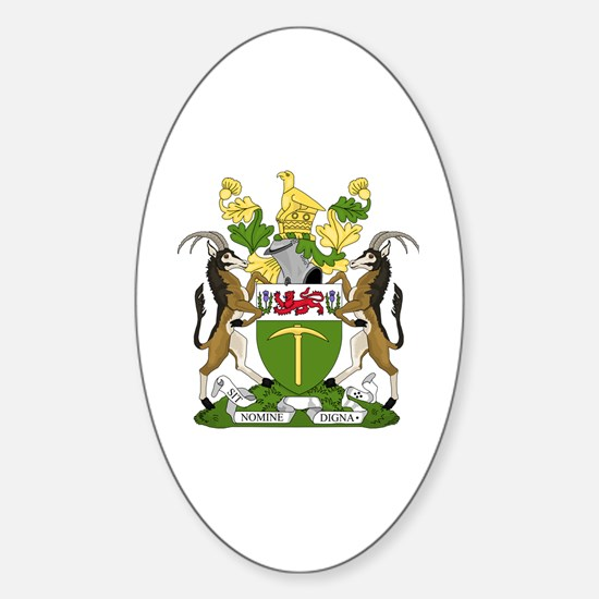 Cute Zimbabwe flag Sticker (Oval)