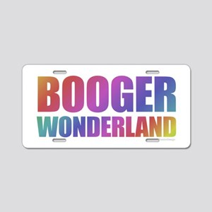 Booger Aluminum License Plate
