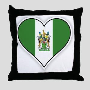 Flag of Rhodesia (1968–1979) Throw Pillow
