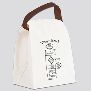 Snowmobiling Flow Chart Humor Canvas Lunch Bag