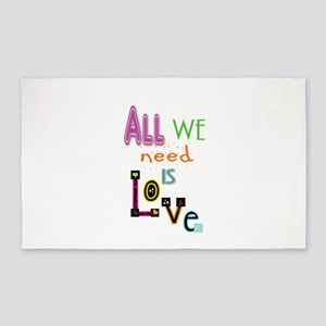 All We Need Is Love Area Rug