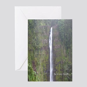 Is it my fault? Greeting Cards